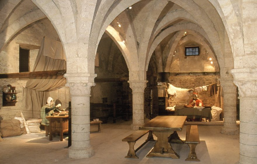 The Tithe Barn, historical monument of the medieval town of Provins