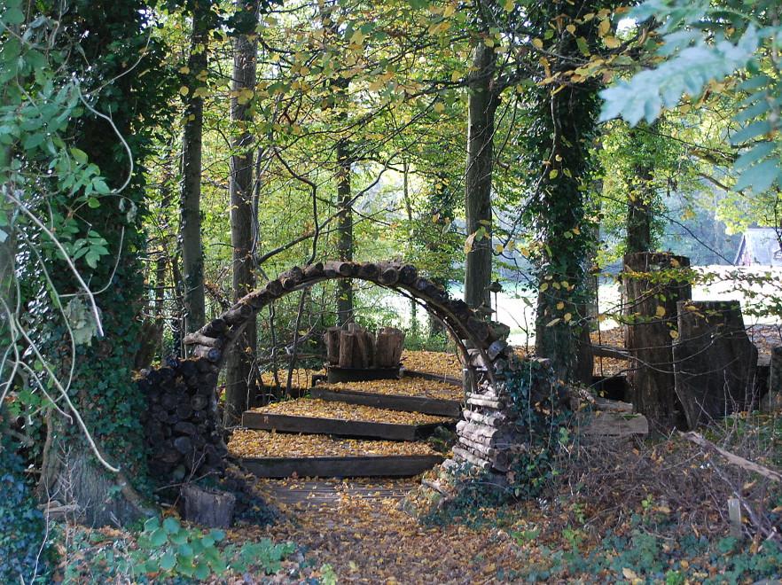 Le Point du Jour Garden, in the village of Verdelot close to Provins