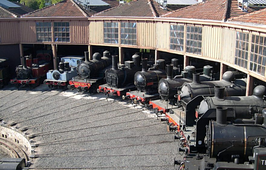 AJECTA, the Living Railway Museum, close to Provins