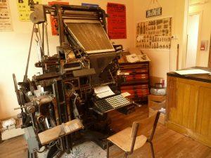 Maison de l'imprimerie ou musée vivant de la Typographie, à Rebais proche de Provins