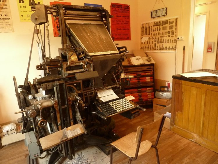 Printing Museum or Living Museum of Typography, in Rebais close to Provins