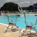 Municipal swimming pool of Bray-sur-Seine, close to Provins
