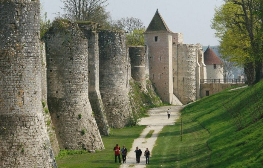 The ramparts of the medieval town of Provins