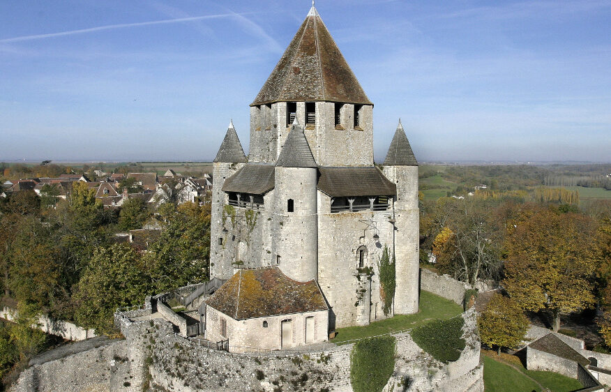The Cesar Tower, historical monument of the medieval town of Provins