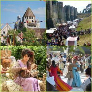 Planche photos des Médiévales de Provins pour la presse
