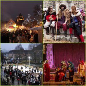 Planche photos de la manifestation Noël à Provins pour la presse