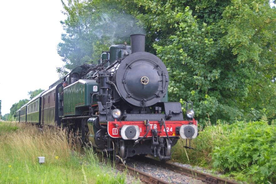 Balade en train à vapeur, à partir de Provins