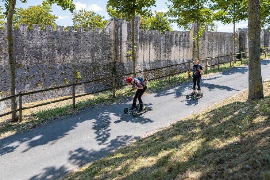 Pratique du cross skating avec Skike Trek 77, dans la région de Provins
