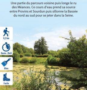 Au bord du ru des Méances, hiking circuit in the Bassée-Montois, region of Provins
