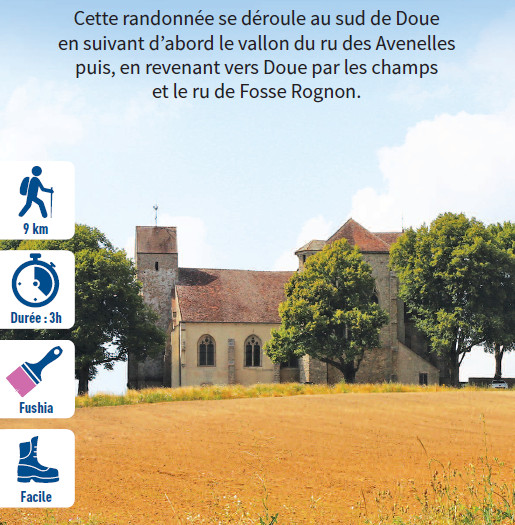 Autour de Doue, hiking circuit in the Valley of the Morin river, region of Provins