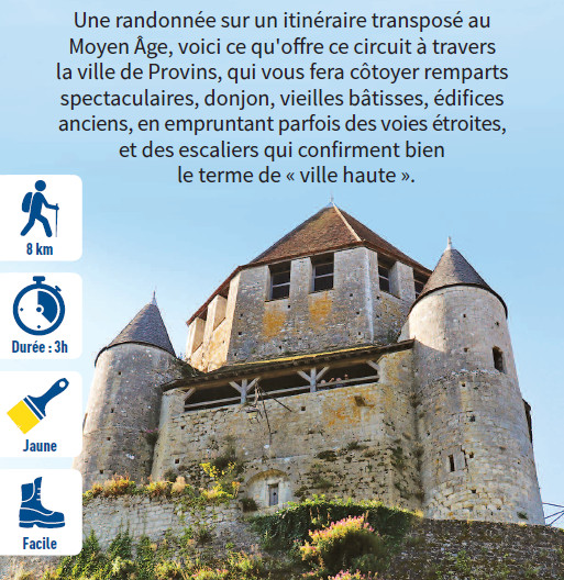 Medieval town of Provins, hiking circuit in the Provinois