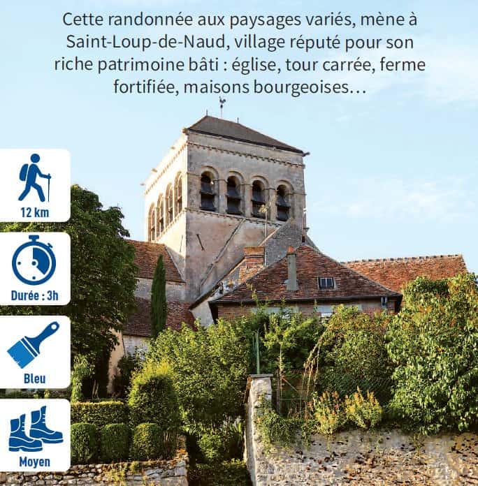 A la découverte de Saint-Loup-de-Naud, randonnée pédestre dans le Provinois, région de Provins