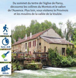 Entre Auxence et Voulzie, hiking circuit in the Bassée-Montois, region of Provins