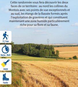 Étangs et balcon, hiking circuit in the Bassée-Montois, region of Provins