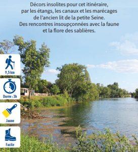 La petite Seine, hiking circuit in the Bassée-Montois, region of Provins