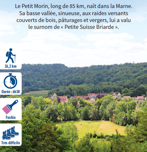 La vallée du Petit-Morin, hiking circuit in the Valley of the Morin river, region of Provins
