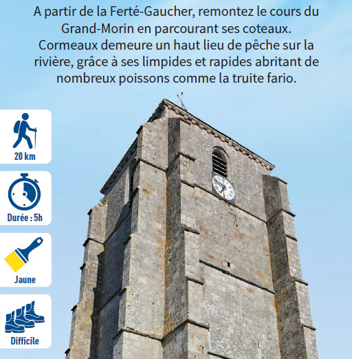 Le circuit de Cormeaux, hiking circuit in the Valley of the Morin river, region of Provins