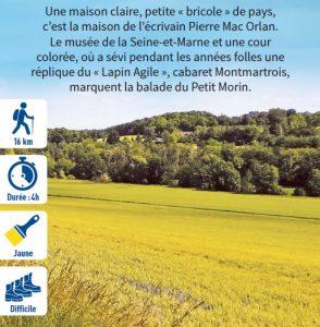 Saint-Cyr-sur-Morin, randonnée pédestre dans la Vallée des 2 Morin, région de Provins