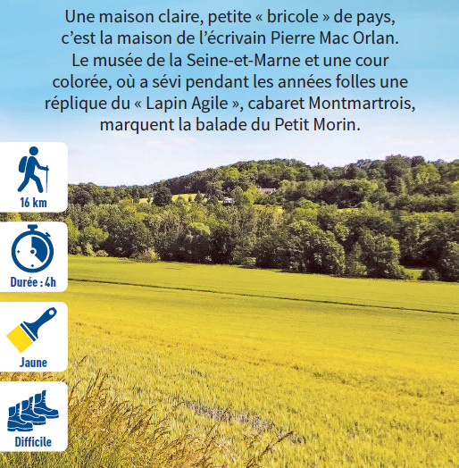 Saint-Cyr-sur-Morin, hiking circuit in the Valley of the Morin river, region of Provins