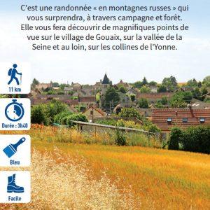 Sur la côte de l'Île-de-France, hiking circuit in the Bassée-Montois, region of Provins