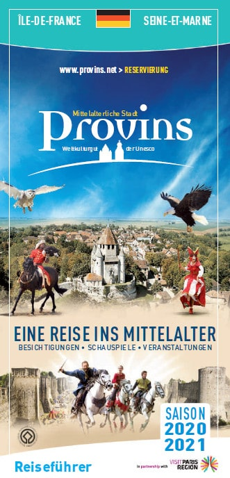 Visitor's guide of Provins in Deutsch