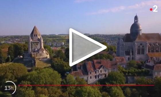 Provins dans le journal télévisé de 13h, sur France 2