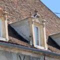 Lucarnes du Palais des Tuileries à Bray-sur-Seine, dans le Bassée-Montois, région de Provins