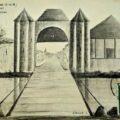 Ancienne porte fortifiée de Jaulnes à Bray-sur-Seine, dans le Bassée-Montois, région de Provins