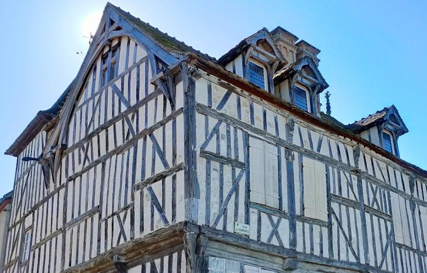 Maison historique à Bray-sur-Seine, dans le Bassée-Montois, région de Provins