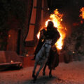 """Fire Horses, night show in the medieval town of Provins for the event """"Provins by Candlelight"""""""