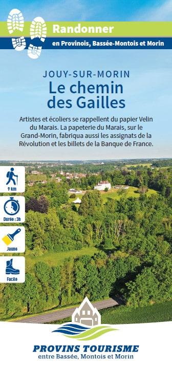 Le chemin des Gailles, randonnée pédestre dans la Vallée des 2 Morin, région de Provins