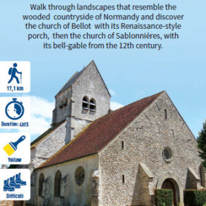 Church in a hamlet, hiking in the Valleys of the 2 Morin, Provins region