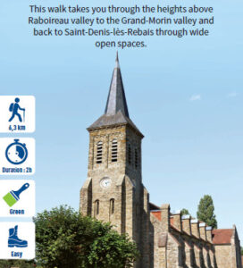 Le Raboireau, hiking in the Valleys of the 2 Morin, Provins region