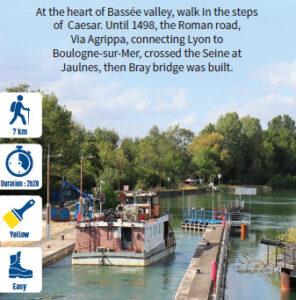 Detour to Jaulnes dam, hiking in the Bassée-Montois, Provins region