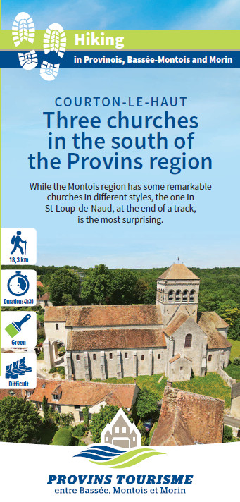 Three churches in the south of the Provins region, hiking in the Bassée-Montois, Provins region