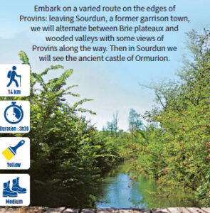 Sources of the Viscountcy, hiking in the Provinois, Provins region
